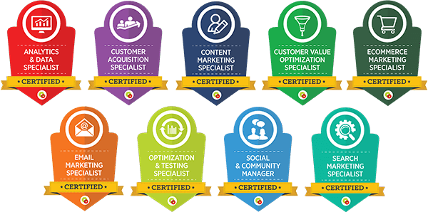 Digital Marketer Certificate Badges